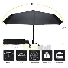 Mini Travel Automatic Umbrella Rain Windproof Auto Open Close 3 Folding Compact
