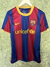 BARCELONA SPAIN 2010 2011 HOME FOOTBALL SHIRT SOCCER JERSEY SIZE S