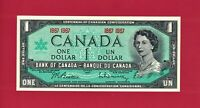 GEM-UNC One 1 DOLLAR 1967 OTTAWA CANADA NOTE - (P-84a) Sign: Beattie - Rasminsky