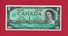 GEM-UNC One 1 DOLLAR 1967 OTTAWA CANADA NOTE - (P-84a) Sign: Beattie - Rasminsky