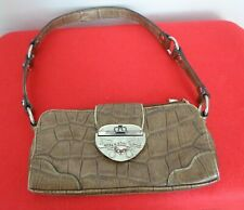 Kathy Van Zeeland Handbag, Purse, crocodile skin look, Heavy clasp.  Great bag.