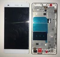 NUOVO VETRO DISPLAY LCD TOUCH SCREEN + FRAME PER HUAWEI P8 LITE ALE-L21 BIANCO