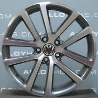 "GENUINE VOLKSWAGEN GOLF MK6 CHARLESTON 18""INCH GREY/POLISHED ALLOY WHEEL X1"