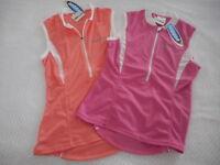 Cycling Bike Jersey Top Sleeveless Apricot/Pink Jaggad#147-2/3  M-10,L-12,XL-14