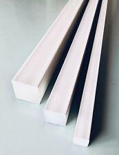 Barra Quadro PVC Pieno Bianco  Scegli Lato  e Lunghezza