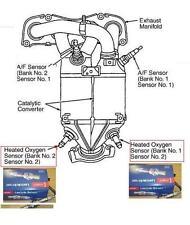 Toyota Rav4 2.0 1azfe 2000-03 Lambda sensores Banco 1 Sensor 2 Banco 2 Sensor 2