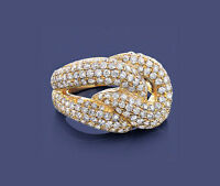 Anillo De Diamantes Oro amarillo 585 Brillantes 2,30 ct. Manufactura Wesselton