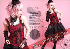 Punk Lolita Gothic Lace Corset Tank Spaghetti tank Top FA168 R