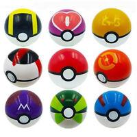 9PCS Pokemon Pokeball 7CM Cosplay Pop-up Master Great Ultra GS Poke BALL Toys