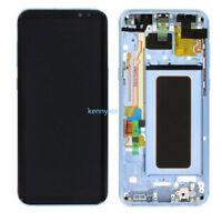 Complet Écran LCD Vitre Tactile Assemblé pour Samsung Galaxy S8 G950F bleu+cover