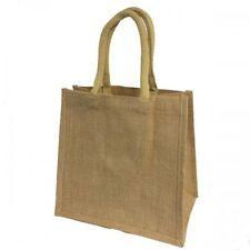 More details for plain laminated jute bags, 30 x 30 x 20cm