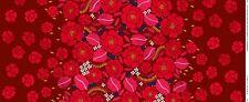 Marimekko fabric Sonja, red 145x50cm, Aino-Maija Metsola
