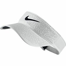NEW Nike Ladies Perforated Tech White/Black Adjustable Visor/Hat