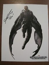 "Falcon in Flight White Background Photo Signed by Anthony ""The Falcon"" Mackie!"