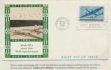 #C30 ON WEIGAND FDC PHOTO CACHET -- AIRMAIL STAMPS -- BS2903