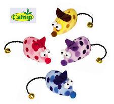 Plüschmaus 6 cm Fellmaus Catnip und Glöckchen Katzenminze Maus Spielzeug Katze