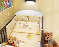 BABY 3PC BEDDING SET PILLOW DUVET BUMPER FIT COTBED 140x70cm Teddy Ladder Cream