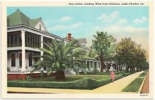 Pujo Street Looking West From Kirkman in Lake Charles LA Postcard