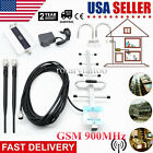 Black Indoor GSM 900MHz Cell Phone Signal Repeater Booster Amplifier For 3G 4G