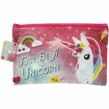 Just Be a Unicorn PVC Pencil Case - Pink Zip Fastening - 24x16cm - BNWT