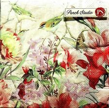 pUNCH STUDIO Set of 40 Luncheon Paper Napkins ~ Nature's Song