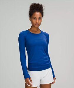 NWT auth lululemon Swiftly Tech Long Sleeve Shirt 2.0 in Symphony Blue Size 8