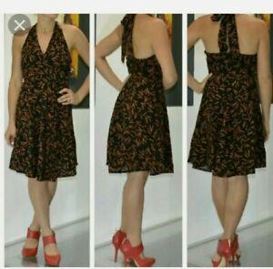 Viva Vena! By Vena Cava Matchstick Women's Halter Black Dress Size 10 NWT!