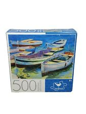 "Cardinal 500 Piece Jigsaw Puzzle ""BOATS""-11"" x 14"" Family Fun"