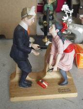 Danbury Mint Porcelain Norman Rockwell First Dance Boy and Girl Figurine