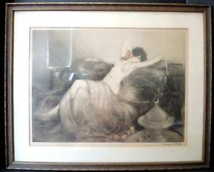 1926 LOUIS ICART (1888-1950)   'SMOKE' (FUMÉE) Untouched With Original Frame
