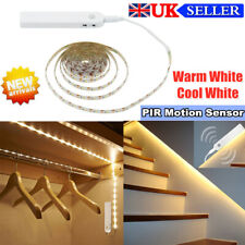 UK PIR Motion Sensor LED Strip Wireless Light Stairs Closet Lamp Battery Powered