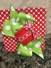 Mud Pie Christmas Baby Girl Hair Clip hair bow gift barrette NEW santa