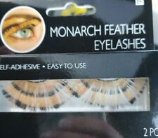 Monarch Butterfly Feather False Eyelashes - Adhesive Included - Ships FREE in US