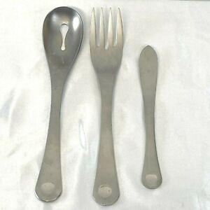 Robert Welch Pendulum Meat Fork Slotted Serving Spoon Butter Knife Dot Circle UT