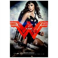 Gal Gadot Autographed 2016 Batman vs Superman Wonder Woman 27x40 Movie Poster CA