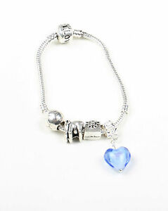 Silver Plated Charm Bracelet with Charms