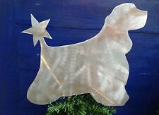 Cocker Spaniel, Dog Tree Topper, or Wreath Decor, Holiday Decoration, Aluminum