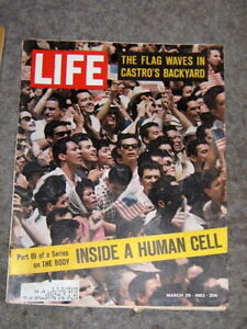 life magazine march 29 1963 CASTRO'S BACKYARD inside a human cell