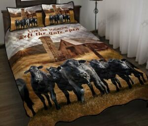 Angus Cow Quilt Bed Set