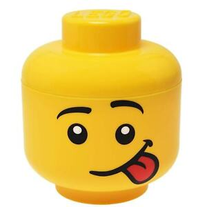 Lego Storage Head Small Silly Boy Face Tongue Out Lego Brick Holder