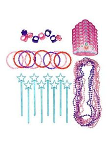 48 PIECE PRINCESS FAVOUR PACK CREATE 8 PARTY LOOT BAGS COMPLETE PARTIES BIRTHDAY