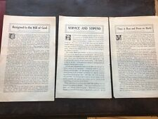 *[Christian Science 3 reprints of CS Journal/Sentinel articles Mary Baker Eddy]*