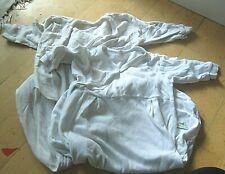 ✿ bekleidungspaket 2 leichte kugelschlafsäcke weiß baumwolle 65 cm + 85 cm