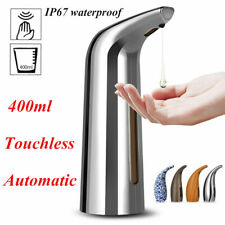 400ml Automatic Soap Dispenser Touchless Handsfree IR Sensor Liquid Hand Wash