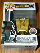 NEW~FUNKO POP~ GOLD CLAPTRAP ~Borderland~ Game Stop Black Friday EXCLUSIVE CHASE