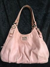 COACH 16503 Madison Maggie Pebble Leather Shoulder Hobo Bag Tuberose Pink