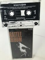 U2 Rattle And Hum Cassette Tape 1988 Island Records 91003-4 FREE SHIPPING!