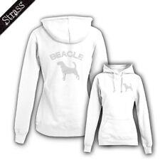Mujer Sudadera Estrás strassdruck Perro Beagle M1