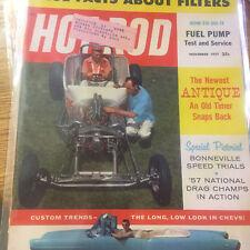 Hot Rod Magazine --(vintage)--------  NOVEMBER 1957