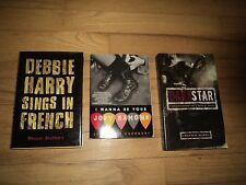 3 Music Novels Dark Star & I Wanna Be Your Joey Ramone Debbie Harry Sings French